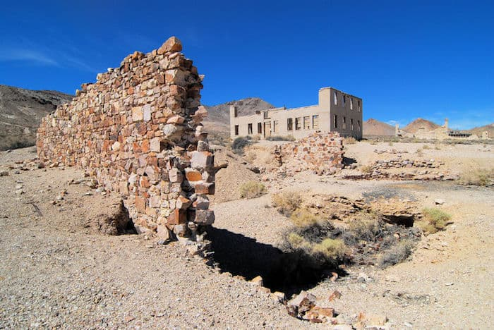 La città fantasma di Rhyolite, Death Valley